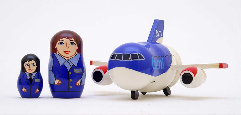BMI Russian airplane matryoshka doll