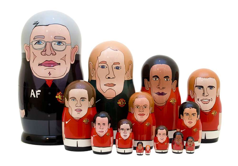 Manchester Soccer Team Russian matryoshka doll