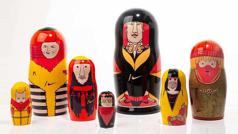 Nike Russian matryoshka doll