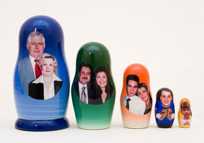 We Make Custom Family Photo Nesting Dolls