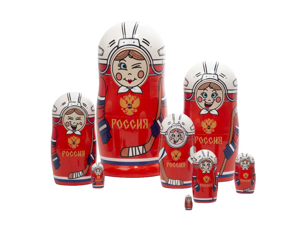 Russian Hockey Federation nesting doll