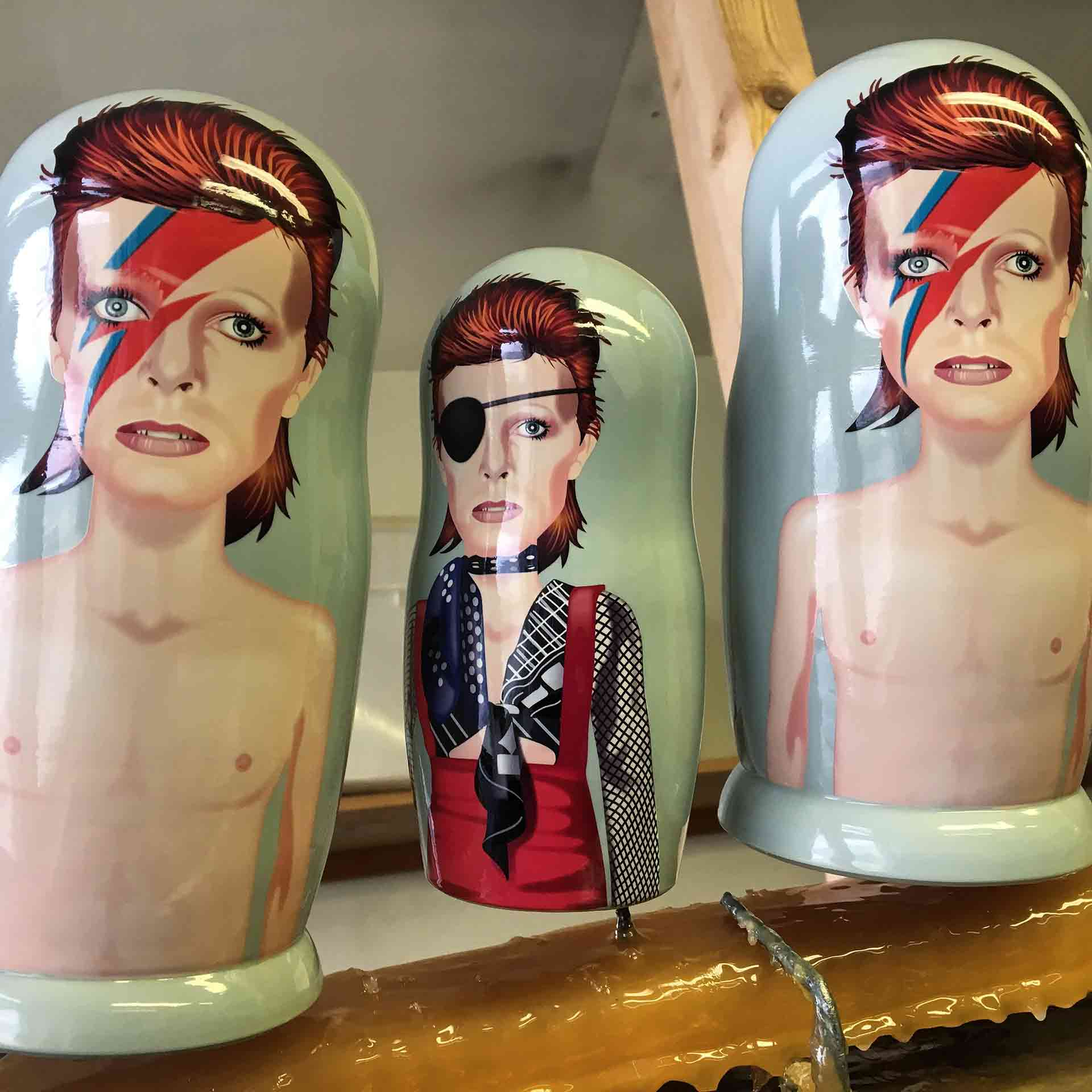 Bespoke Custom Nesting Doll – David Bowie