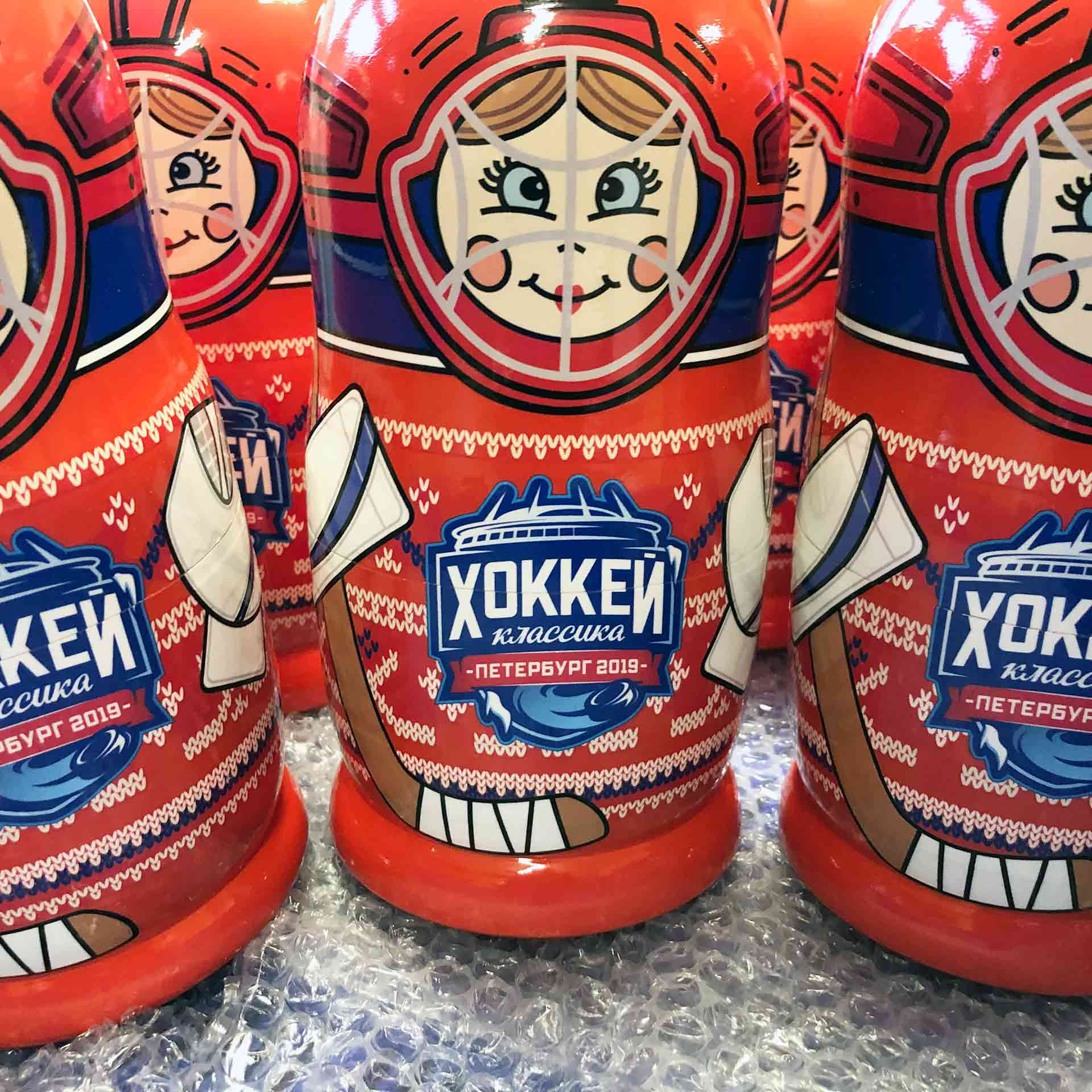 Bespoke Custom Nesting Doll – Russian Hockey