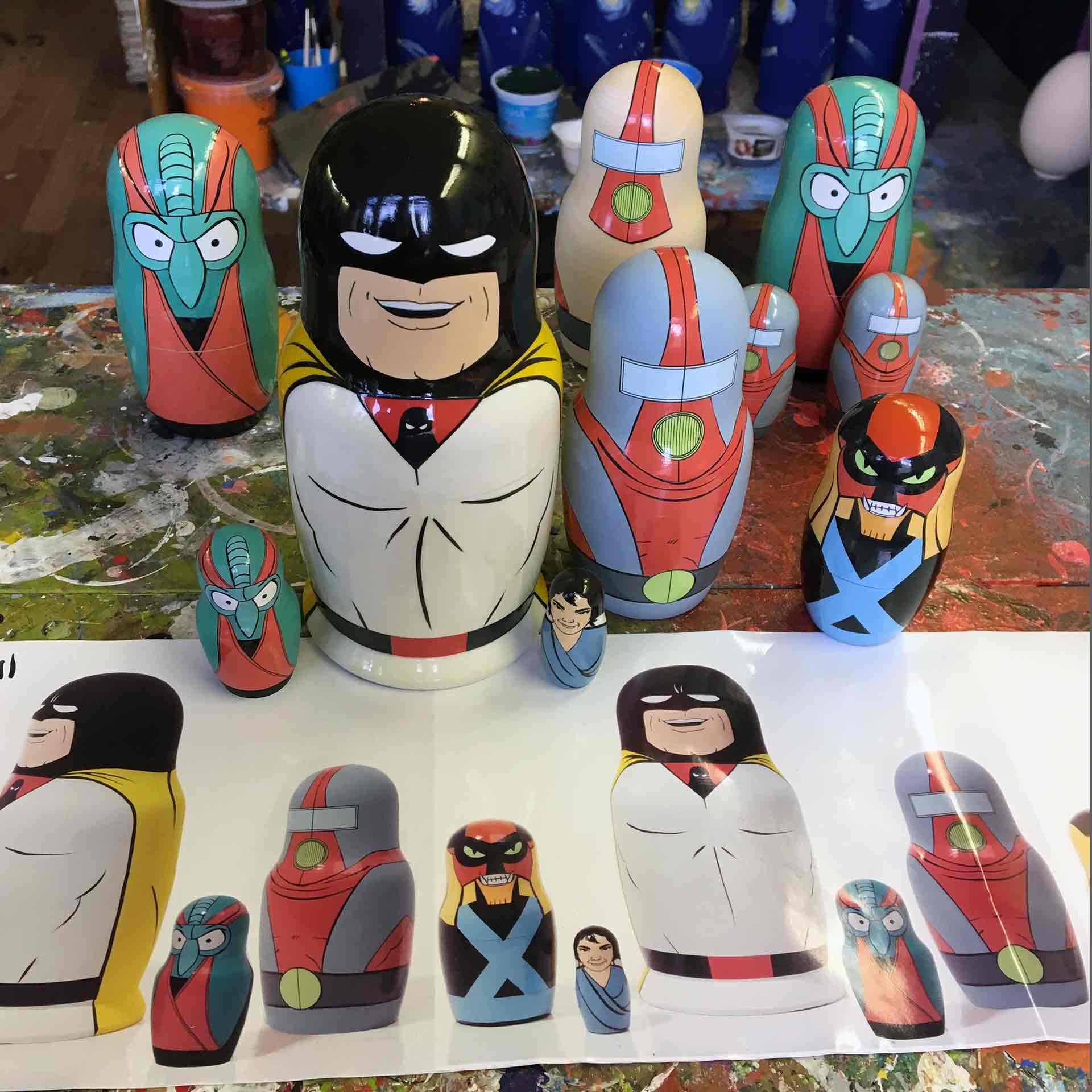 Bespoke Custom Nesting Doll – Superhero