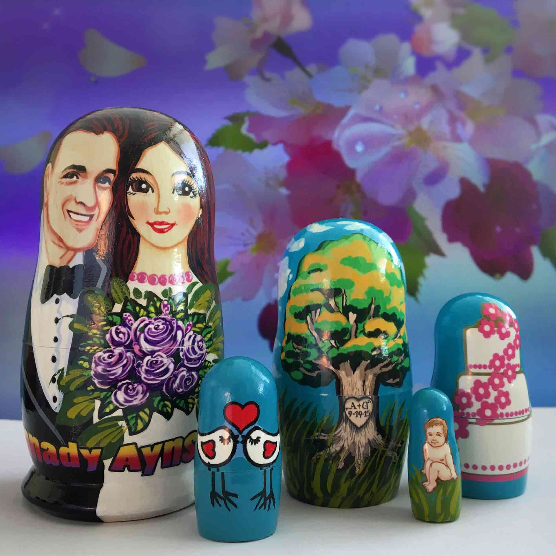 Bespoke Custom Nesting Doll – Wedding Favors