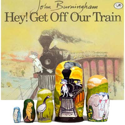 Hey! Get Off Our Train Paperback Book & Doll Set
