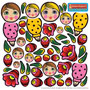 DIY Nesting Doll Stickers for Volga Maiden 5pc./6