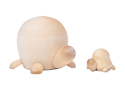 Unpainted Blank Nesting Turtles 2pc./3
