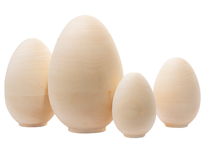 Unpainted Blank Nesting Cow Egg 4pc./8