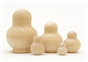 Potbellied Blank Nesting Doll 5pc./4