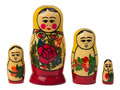 "Semenov Matryoshka Doll 4pc./4"" - Folk Art"