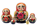 "Semenov 5pc./3"" Potbellied Nesting Doll - Folk Art"