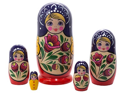 Volga Maiden Doll 5pc./6