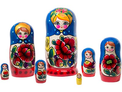 Polkhovski Maidan Doll 7pc./8