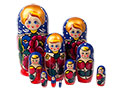10-Piece Floral Russian Nesting Doll