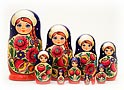 Volga Maiden 10pc Nesting Doll