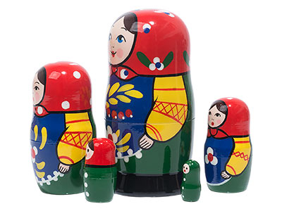 Zagorsk Doll 5pc./4