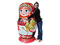 "Life-Size Matryoshka Doll 1pc./5'3"". Made in USA."