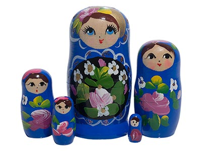 Dark Blue Art Doll 5pc./4
