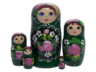 Green Art Doll 5pc./4