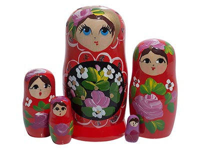Red Art Doll 5pc../4