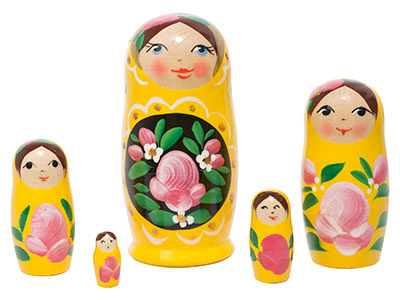 Yellow Art Doll 5pc./4