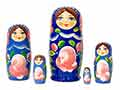Blue Gradient Nesting Doll 5pc./4