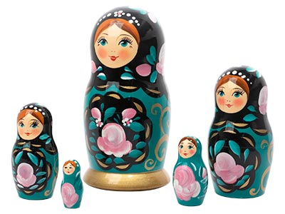 Teal Classical Art Doll 5pc./6