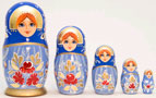 Deluxe Floral Nesting Doll