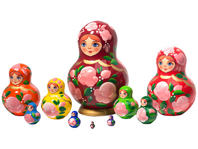 Happy Maidens Nesting Doll 10pc./4