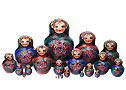 Zhostovo Floral Doll Green 20pc./10