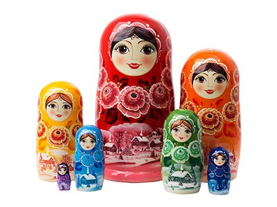 Rainbow Nesting Doll 7pc./8