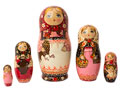 Rooster Girl in Pink Nesting Doll 5pc./7