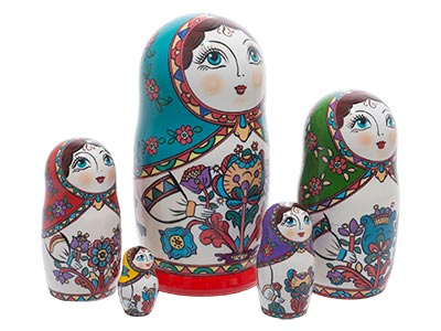 Northern Folk Style Doll 5pc./6