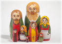 Old Peasant Patriarch Nesting Doll 8pc./7