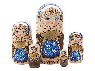 Woodburned Doll 5pc./5