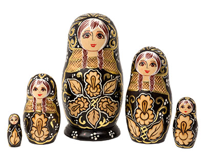 Deluxe Woodburned Doll 5pc./6