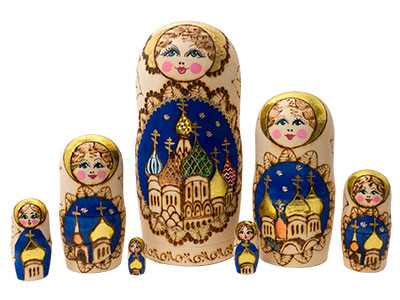 Russian Domes Nesting Doll 7pc./8