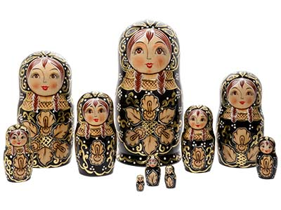 Deluxe Woodburned Doll 10pc./10