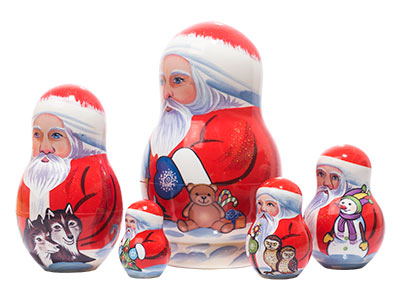 Yukon Santa Nesting Doll 5pc./5