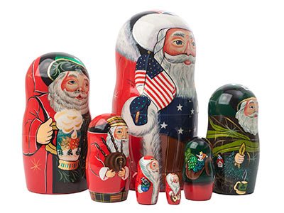 International Santas Doll 7pc./8