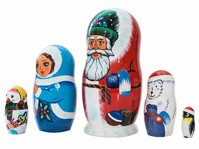 Polar Christmas Doll 5pc/5