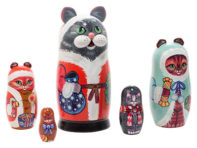 Christmas Cats Doll 5pc./5