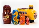 Yellow Sub Nesting Doll 5pc./6