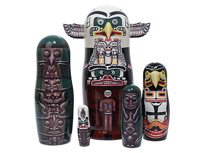 Totem Pole Nesting Doll 5pc./8