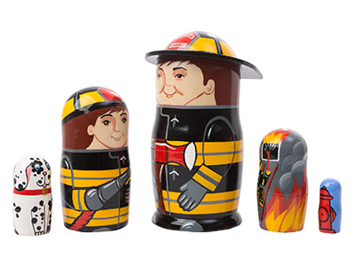 Firefighter Doll 5pc./5