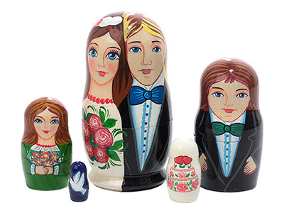 Wedding Favor Doll 5pc./4