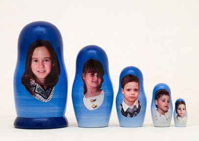 Custom Family Photo Nesting Dolls