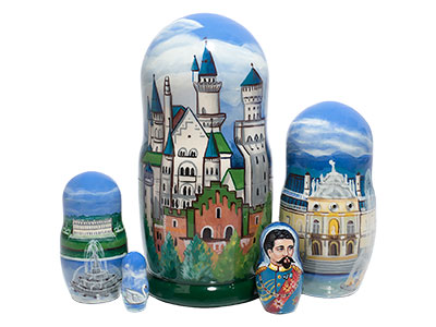 Bavarian Castles Doll 5pc./6
