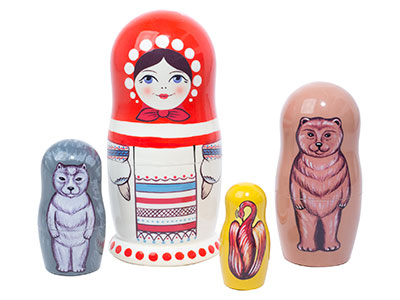 The Magic Nesting Doll 4pc./5